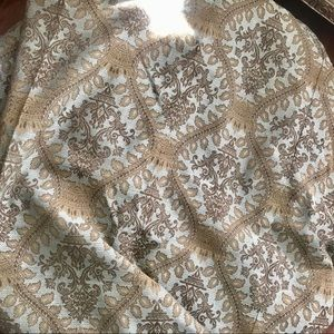 Upholstery fabric Jacquard Blue Brown 2 Pieces